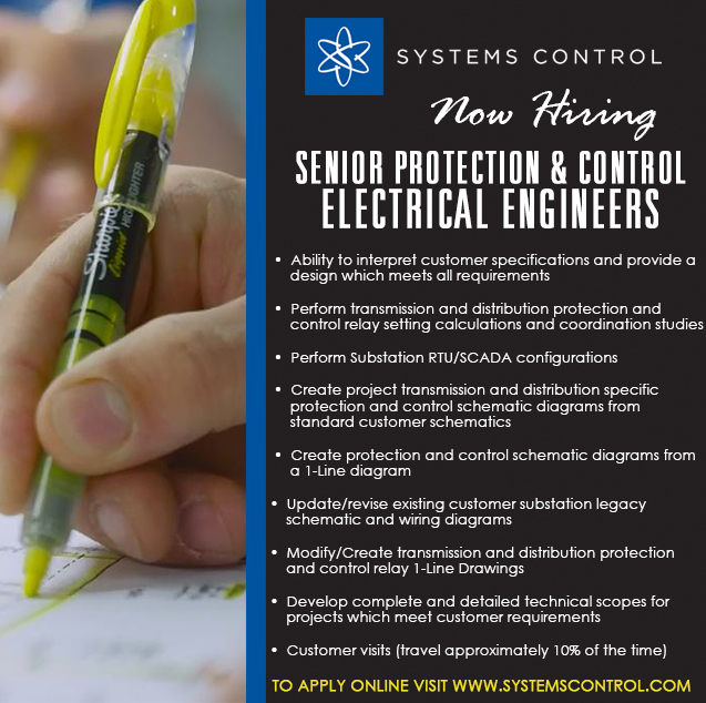 Sr Electrical Engineer Protection and Control job 2 for iCIMS